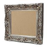 Großer Bilderrahmen Barock 75×85 / 50×60 cm Silber (Antik) Im Retro-Vintage look. In Handarbeit hergestellt. (Foto-Rahmen) Idealer Gemälde-Rahmen für Ausstellungen STAR-LINE® - 2