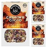 Seedheart Cashew Kakao 900gr Bio Müsli Kakaonibs Cashew Quinoa | Glutenfreie Zutaten | Kein Getreide | Ohne Zucker | Amaranth