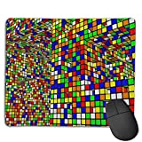 Mouse Pad Rubik's Cube World Rectangle Rubber Mousepad 8.66 X 7.09 Inch Gaming Mouse Pad with Black Lock Edge