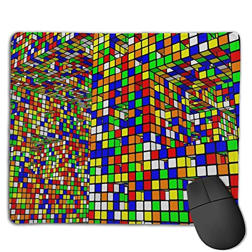 Preisvergleich Produktbild Mouse Pad Rubik's Cube World Rectangle Rubber Mousepad 8.66 X 7.09 Inch Gaming Mouse Pad with Black Lock Edge