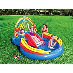 Intex 57453 piscina hinchable Rainbow Ring Juegos infantil cm 297 x 193 x 135
