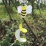 Dekoratives Windspiel für den Garten von Dairyshop, Spinner mit Tiermotiv, das sich im Wind dreht, 1 Stück Biene