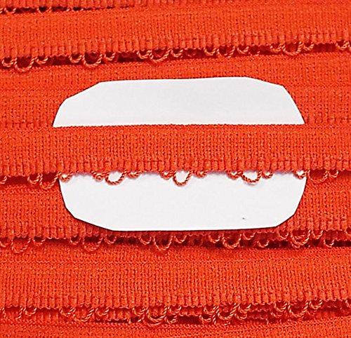 Großhandel für Schneiderbedarf 3 m Wäschespitze elastisch 13 mm orange (Orange Nähmaschine Schere)