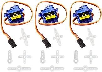 KEYESTUDIO 3 x SG90 Micro Servo Motor 9G Starter Kit für Arduino un RC Roboter Hubchrauber Flugzeug
