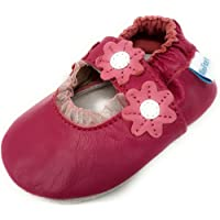 MiniFeet Soft Leather Baby Shoes, Baby Girl Sandals 0-6, 6-12, 12-18 & 18-24 Months