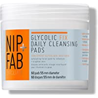 Nip+Fab - Glycolic Fix, Dischetti esfolianti all'acido glicolico per la cura quotidiana del viso (1 x 60 pads)