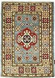Nain Trading Kazak 92x63 Orientteppich Teppich Orange/Rosa Handgeknüpft Afghanistan