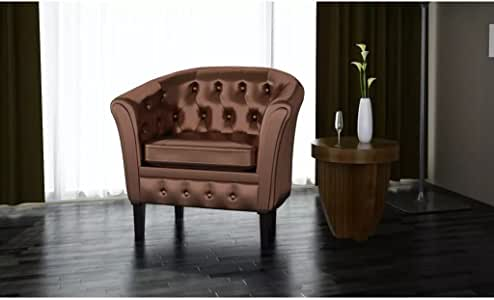mewmewcat Fauteuil Chesterfield, Fauteuil Cabriolet Cuir