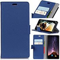 Forhouse Wiko View Wallet Leather Case with Protective Durable Shell Shell Folio flip Cell Phone Cover Bag with Card Slots,Cash Pocket,Blue
