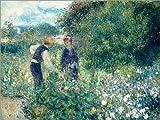Cuadro Sobre Lienzo 80 x 60 cm: Picking Flowers de Pierre-Auguste Renoir - Cuadro Terminado, Cuadro Sobre Bastidor, lámina terminada Sobre Lienzo auténtico, impresión en Lienzo