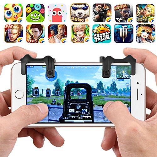 Jadeer 2Pcs Handy Shortcuts Game Controller Fernbedienung Speed-Assisted Wilderness Action mit Zoom Objektiv, Mobile Version