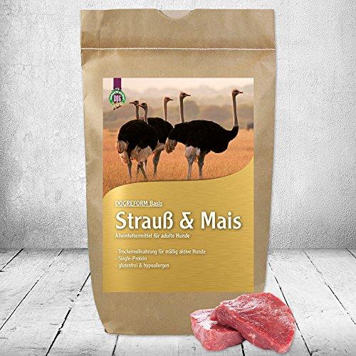 Schecker DOGREFORM Strauß & Mais Trockenfutter