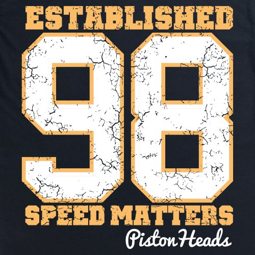 PistonHeads Established 98 T-Shirt, Herren Schwarz