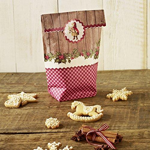 Preisvergleich Produktbild Papiergeschenktüten-Set Winter Poesie: 6 Papiertüten mit Sticker, 14,5x23,5 cm