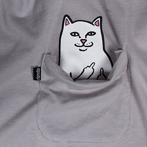 Herren T-Shirt Rip N Dip Lord Nermal Pocket T-Shirt Cool Grey