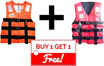 Generic Polyester Adult Safety Life Jacket (Orange)