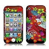 Xtra-Funky Exclusif Couverture Rouge florale Fleur Désign à la mode haute qualité de protection autocollant de décalque vinyle pour Apple iPhone 3 / 3G / 3GS