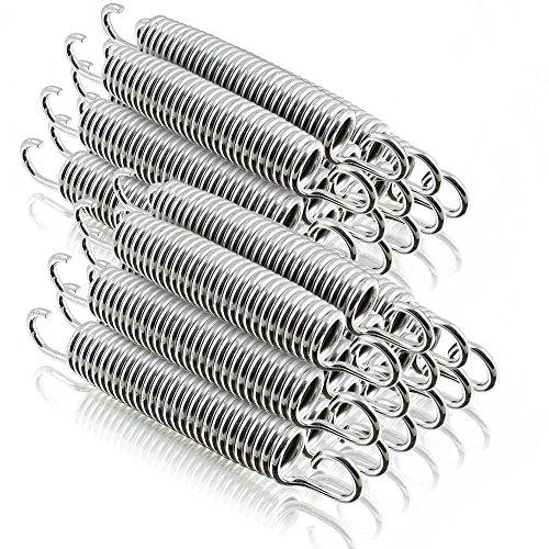 Ersatz Trampolin Spiral Federn für Outdoor-Trampoline Gartentrampoline Fittness-Trampoline Lange: 140mm / 21mm Ø (24 Stück)