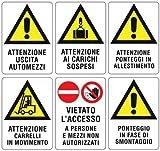 Cartello Segnaletico - Cartello Ponteggio In Allestimento 50x70 cm