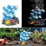 Hemore Aquarium-Dekoration Koralle – Luftblase Koralle Perlen Sauerstoffpumpe Kunstharz Basteln für Aquarien