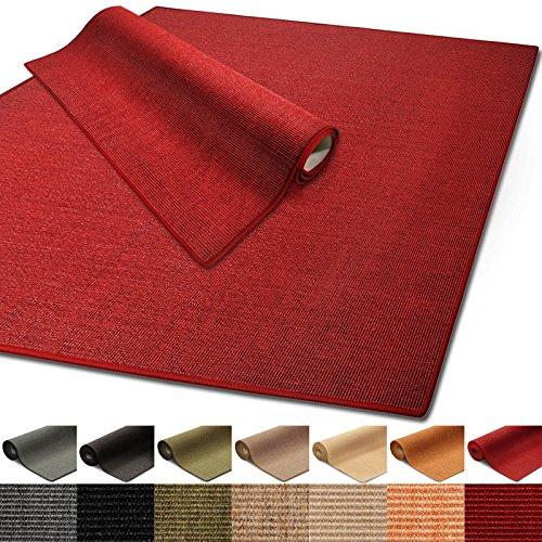 100{56957701050d45e029daffb54015a67c76f6ec08a278bc2d77984364ff69ba35} reines Sisal   Sisalteppich in verschiedenen Farben und vielen Größen (Rot, 80 x 150 cm)