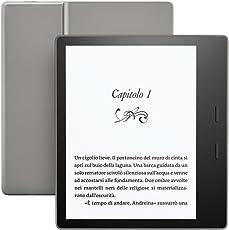 """E-reader Kindle Oasis Ricondizionato Certificato, resistente all'acqua, schermo da 7"""" ad alta risoluzione (300 ppi), 32 GB, connettività Wi-Fi + 3G gratuito"""