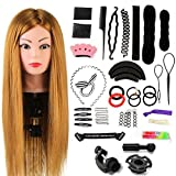 Neverland Beauty 24 Inch 60% Real Human Hair Hairdressing Training Head Practice Mannequin