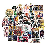 Sbarden 50/100 Pieces My Hero Academia Personality Sticker Travel Trolley Case Sticker Waterproof Car Sticker Doodle Sticker Anime Fans Gifts( 100pcs)