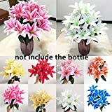 10 Têtes Vives Coloré Bricolage Artisanat Haute Qualité Faux Lys Fleurs Artificielles Lys Bouquet De Mariage Décor