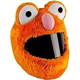 Smile Helmüberzug für Motorradhelm, lustiges Design und Geschenke (Nur Überzug. Helm Nicht inbegriffen) Umfassende Wärme,Orange