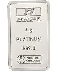 Bangalore Refinery 999 Purity Gram 5 g Platinum Bar