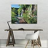 FORWALL Bilder Brücke O1 (100cm. x 75cm.) Leinwandbilder Wandbild AMFPP11845O1