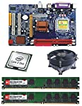 core2duo 2.66ghz + g31/945 motherboard intel chipset maxsonic brand + 2gb ddr2 ram hynix/ kingston (1gb *2) + CPU FAN high durability and top performance with solid capacitors and shock resistant PCB VALUE FOR MONEY