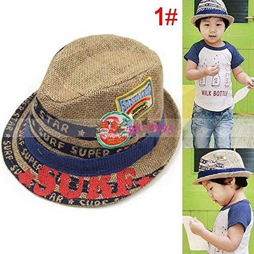 47cceab8e27d8 22% OFF on Generic natural linen children jazz hat kids summer fedora hat  children fashion cap