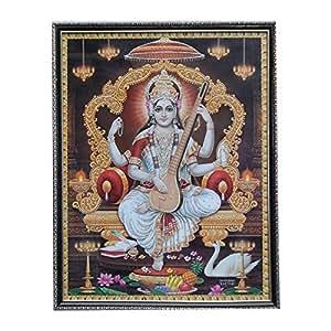 Wow Wood Multi Coloured Saraswati Photo Frame