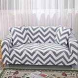 FORCHEER Sofabezug Elastischer Sofaüberwurf Blumen-Muster Sofa Cover Stretch Hussen für Sofa/Couch in Verschiedenen Größen(3-Sitzer, 180-225cm)