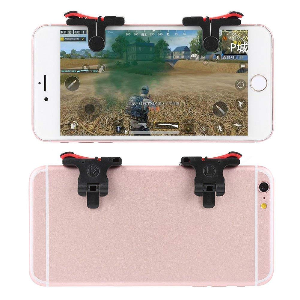 Rednix Mobile Phone Gaming Trigger with Fire Shooter Controller Button Aim  Key L1 R1 for PUBG ROS (Red) - We Shop Easy