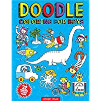 Doodle Coloring For Boys (Doodle Coloring Books)