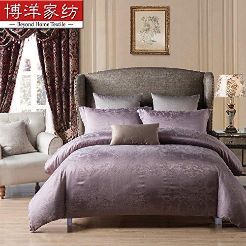 Preisvergleich Produktbild Sammlung ägyptischer Bettwäsche set, langstapelige Baumwolle hypoallergen Blatt,Bettbezug 4 Stück Tröster Set & Kissen Set, voll,