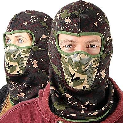 Frontier Camouflage Unisex Sturmhauben warme Winter Cheek Neck CS Hut Ski Jagd Hut Hood