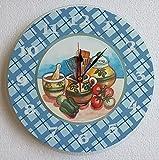 Küchenuhr Glas, Bistro Wanduhr, Designer Uhr zum Aufhängen von Aktivhandel
