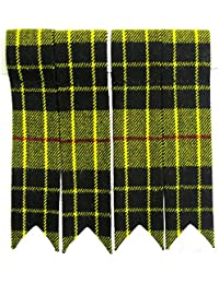 Tartanista - Flashes de chaussettes de kilt - couleur unie/tartan Royal Stewart/tartan Black Watch/etc. - MacLeod Of Lewis