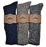 Best Hiking Socks - 3 Pairs of Mens Thick & Warm Heavyweight Review