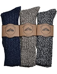 Mens 3 Pairs Thick And Warm Winter Heavyweight Wool Work Hiking Boot Socks UK Mens Shoe Size 8-11