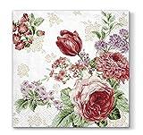 Decorline- 20 Papierservietten Mysterious Roses-33x33 cm-3 lagig