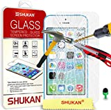 Apple iPhone 5C - Premium Tempered Glass Crystal Clear LCD Screen Protector Guard Cover Ultra Thin Lighweight & Polishing Cloth + Green 2 IN 1 Dust Stopper GSVL1 BY SHUKAN®, (TEMPERED GLASS)