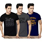 KAVIT HUB Men's Regular Fit T-Shirt (Pack of 3)