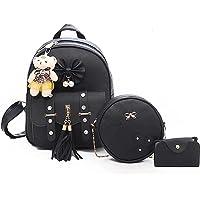 Yk Exports® Fashion Girls 3-PCS Fashion Cute Stylish Leather Backpack & Sling Bag Set for Women, School & College Girls…