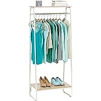 Iris Ohyama - Portant penderie à vêtements / Porte-manteaux avec 2 étagères en bois MDF et métal - Garment Rack PI-B2…