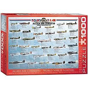 Puzzle 1000 pièces - Avion de chasse Seconde Guerre Mondiale - Les Alliés